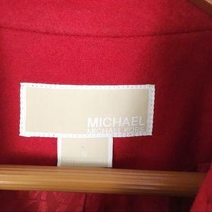 Michael Kors Jackets & Coats - Michael Kors Long Red Wool Pea Coat